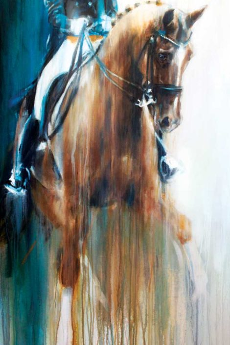 Adelinde Cornelissen and Parzival abstract horse art print