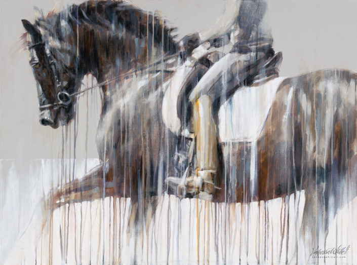tempo-and-rhythm-of-a-great-canter-captured-in-a-painting-modern-dressage-art-by-vanessa-whittell