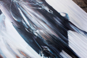 Equestrian Commission Portrait Of Eleanor Klawer On Dressage Horse Dantesse By Equine Artist Vanessa Whittell (detail 5)