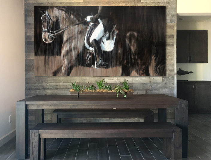 horse painting contemporary abstract realism dressage portrait vanessa whittell