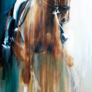 Idaho dressage eventing festival poster by equine artist vanessa whittell