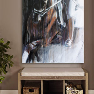 large-canvas-painting-of-dressage-horse-by-equine-artist-Vanessa-Whittell-for-your-horse-art-collection-interior
