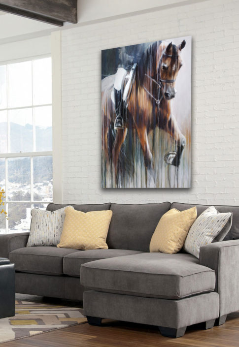 large horse paintings and equine portraits
