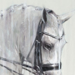 Charlotte Dujardin on Florintina. Detail from large contemporary dressage print by Vanessa Whittell