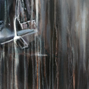 """Detail from """"The Master"""" Contemporary acrylic painting of Carl Hester by equestrian artist Vanessa Whittell. Photo reference www.daydreamequineart.co.uk"""